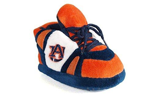 Auburn Tigers Wool (Comfy Feet AUB03PR - Auburn Tigers NCAA Happy Feet Baby Slippers)