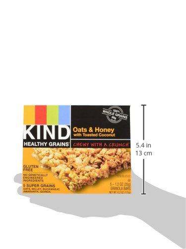 KIND Healthy Grains Granola Bars, Oats & Honey with Toasted Coconut, Gluten Free, 1.2 oz, 30 Count by KIND (Image #6)