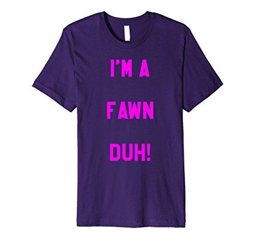 Mens Im a Fawn Duh Shirt Costume, Funny Easy Halloween Shirts Medium (Diy Fawn Halloween Costume)