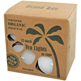 Aloha Bay Palm Wax Tea Lights with Aluminum Holder Candles, 7 Ounce