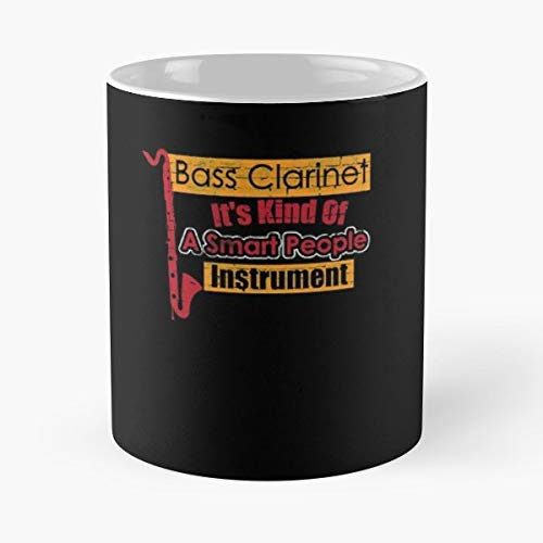 - Bass Clarinet Instrument Wind Instruments - White -coffee Mug- Unique Birthday Gift-the Best Gift For Holidays- 11 Oz.