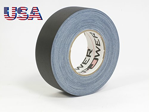 Gaffer Duct Tape (REAL Premium Grade Gaffer Tape Plus by Gaffer Power Made in the USA - Black 2 In X 55 Yds 11.5 mils - Heavy Duty Gaffer's Tape - Non-Reflective - Multipurpose - Better than Duct Tape)