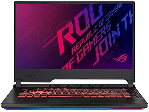 "ASUS ROG Strix G 15.6"" FHD LED Gaming Laptop Notebook, Intel 6-Core i7-9750H, 8GB DDR4 Memory, 512GB SSD, GeForce GTX 1650 Graphics, RGB Backlit Keyboard, HDMI, Windows 10, Black + CUE Accessories"
