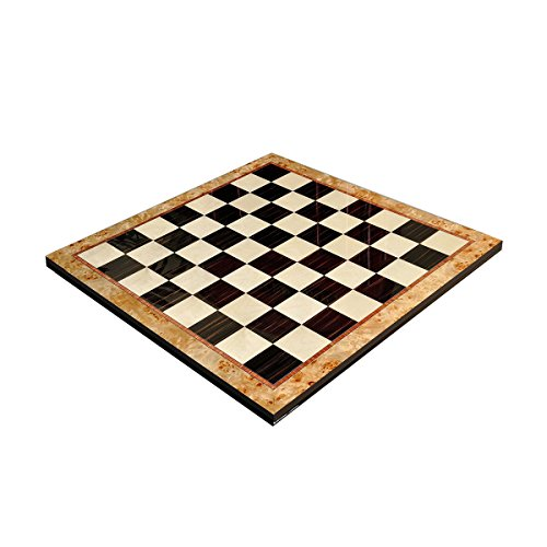 Maple Burl & Ebony Superior Traditional Chess Board - 2.5