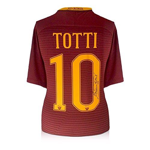 Francesco Totti Signed AS Roma 2016-17 Home Jersey: The Final Season