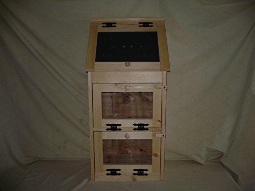 Handcrafted Solid Pine Bread Box with 2 Door Vegetable Bin. The Door Has the Punched Tin Accent. Measures 36 (Bin Veggie)