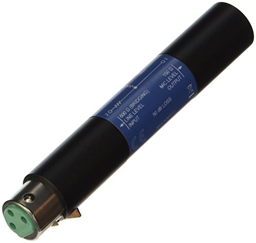 Shure A15LA Line Adapter-Converts Balanced Line Level Signals to Microphone Level (50dB Attenuation) - Unbalanced Line Level Equipment