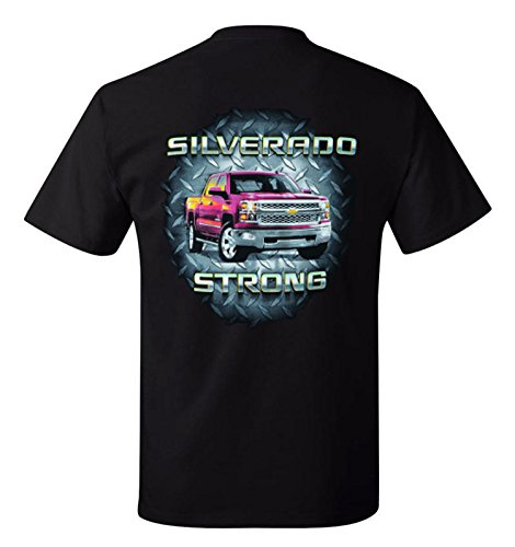 Greg's Automotive Silverado Strong Chevrolet Chevy T Shirt- Bundle of 2 Items: 1 T-Shirt and 1 Racing Decal (Medium)