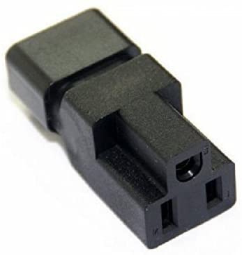 BLUEXIN USA NEMA 5-15R Female to IEC 60320-C14 Male Connector PDU UPS Power 3 Prong Plug Adapter