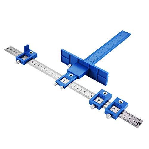 JoyTube Cabinet Hardware Jig Adjustable Punch Locator Tool Drill Template Guide Tool Drilling Holes for Installation of…