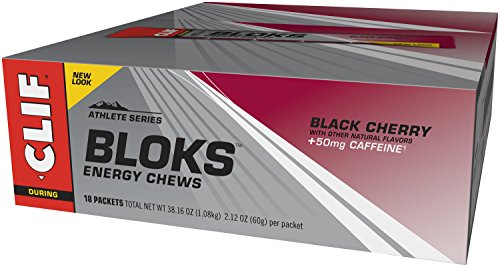 CLIF BLOKS - Energy Chews - Black Cherry - (2.1 Ounce Packet, 18 Count)