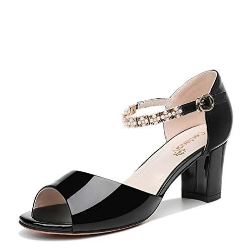 Donne Alla Donna tacco roma nero AJUNR le indossano indossano indossano scarpe signore   c9b16e