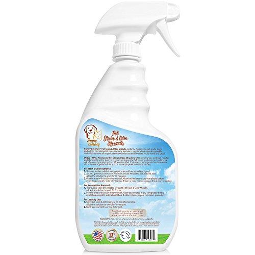 Pet Stain & Odor Miracle - Limpiador de enzimas para orina de perros y gatos, heces, vómitos y baba
