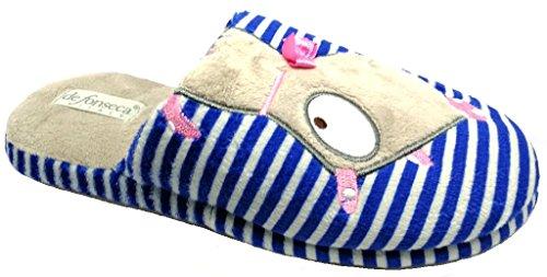 DE FONSECA ciabatte pantofole invernali donna mod. ROMA TOP W211 blu