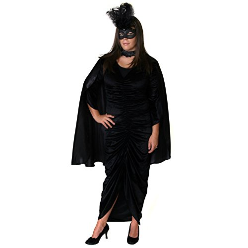 Black Satin Costume Cape 36