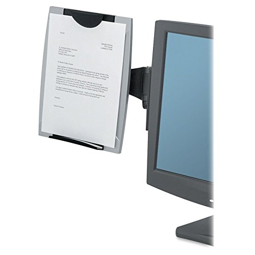 Fellowes(R) Office Suites Monitor Mount Copyholder, Black/Silver by Fellowes (Image #2)
