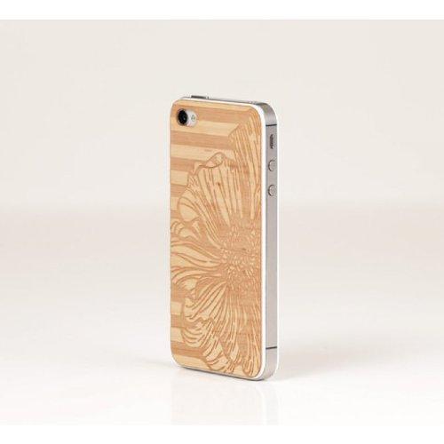 Lazerwood 25150 Anne Marie Jackson-Peony Holz Cover für Apple iPhone 5/5S inkl. Displayschutzfolie