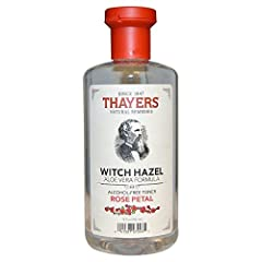 Flower Power. Thayers Alcohol-Free Rose Petal Witch Hazel Toner with Aloe Vera will make your skin bloom. Thayers remarkably soothing Rose Petal Toner is made with rose water, filet of aloe vera, and our proprietary Witch Hazel extract. Rose petals, ...