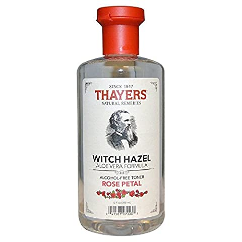 Thayers Alcohol-free Rose Petal Witch Hazel with Aloe Vera, 12 oz (Astringent Toner)