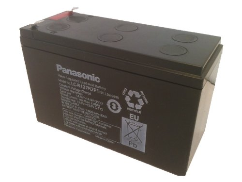 Price comparison product image Panasonic LC-R127R2P1 Black Large 12V 7.2Ah VRLA Battery with F2 Terminal