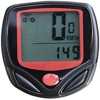 Compteur de Vélo Étanche/ Cycle Odomètre Ordinateur LCD Écran - Noir
