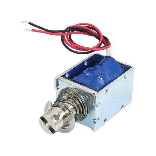 Uxcell a12120600ux0144 Stroke Open Frame Electric Linear Solenoid, DC 12V, 5.6 Ohm, 1 kg Force, 10 mm by uxcell