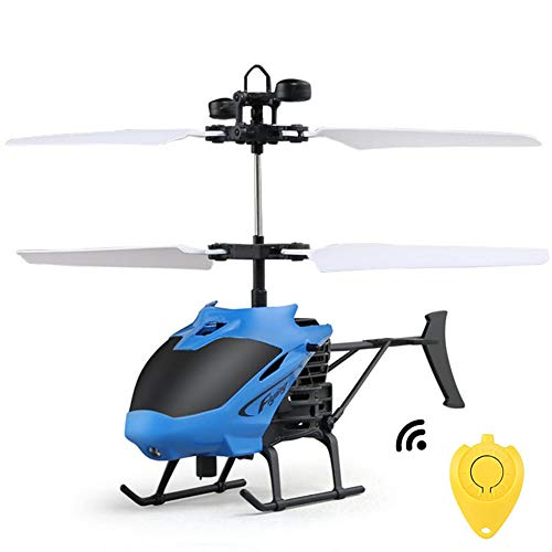 Smalody Mini RC Helicopter Radio Remote Control Hand Induction Flying Aircraft Electric Micro Helicopters Toys Gift for Kids (Remote Control Helicopter Yellow)