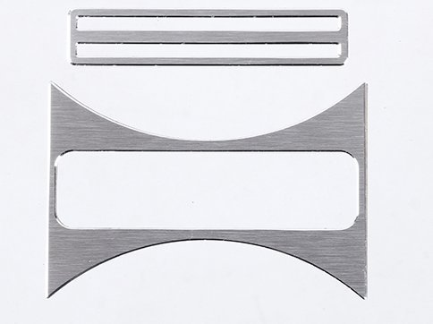 HERBEN Aluminum Alloy Cup Holder Cover Trim for Mercedes Benz CLA 200 220 260 GLA A Class W176 C117 W117 Silver