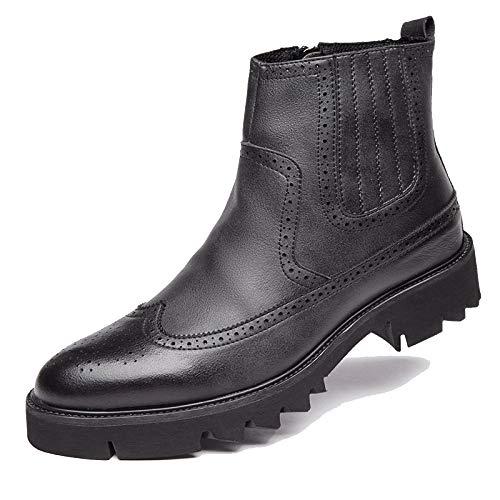 in da da Pelle Vintage Pelle Stivali Brogue Black Stivali Sicurezza Stivali Smart di per Concessionari Foderati Uomo Chelsea Casual I0xAxqn5B