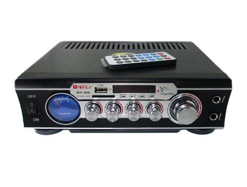 6 opinioni per AMPLIFICATORE AUDIO STEREO DISPLAY DIGITALE MICROFONI USB SD MP3 RCA FM