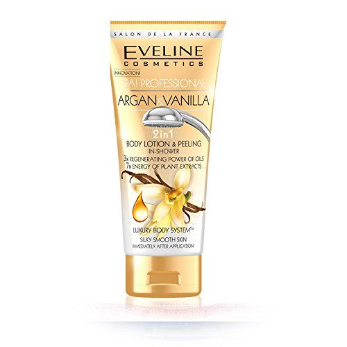 Argan and Vanilla 2 in 1 Body Lotion and Peeling in Shower Luxury Body System