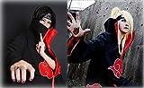 KuKiee Unisex Long Ninja Robe Akatsuki Cloak