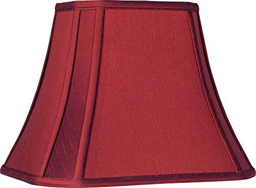 Crimson Red Cut-Corner Lamp Shade 6/8x11/14x11 (Spider) - Springcrest ()