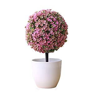 LAA 1pcs Fake Potted Fake Plant Decor Artificial Plants Plastic Fake Tree Plants Bushes Faux Potted Fake Potted Plants Artificial Topiary Plant Potted 7