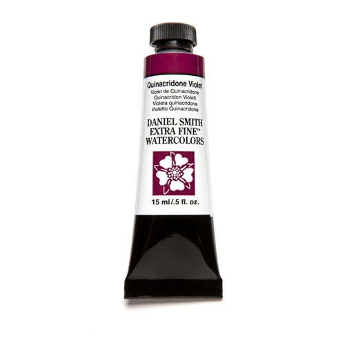 DANIEL SMITH 284600094 Extra Fine Watercolor 15ml Paint Tube, Quinacridone, Violet (Violet 15 Ml Tube)