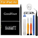 GoodFixer for Apple iPad Air/iPad 5 Battery Replacement with Complete Repair Tools Kit, Adhesive Strip 0 Cycle - 8827mAh Li-ion Replacement Battery [365 DAYS Warranty]