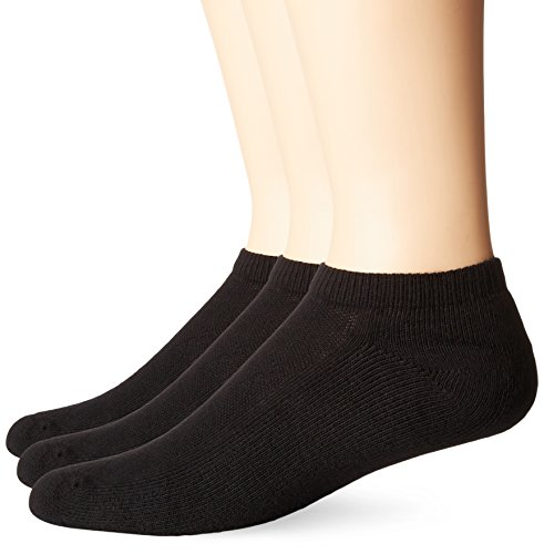 No Nonsense Men's Cushioned No Show Socks (3 Pack) Made i...