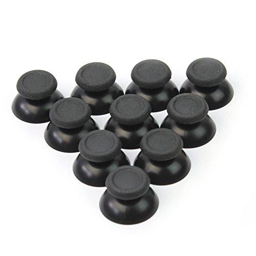 lecimo 10 Pcs Black Joystick Thumb Stick Button