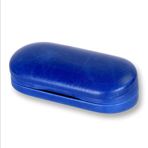 HEMALL Contact Lenses 2-in-1 Eyeglass and Contact Lens Case Double Use Portable for Home Travel Kit, Blue, Q544