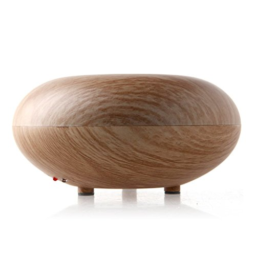 2019 Wood Grain Aroma Essential Oil Diffuser - 7 Color LED Lights, Waterless Auto Shut-Off, Portable Ultrasonic Humidifier, Adjustable Timer Cool Mist, Quiet for Home Office Baby Bedroom (G3A 160ml)
