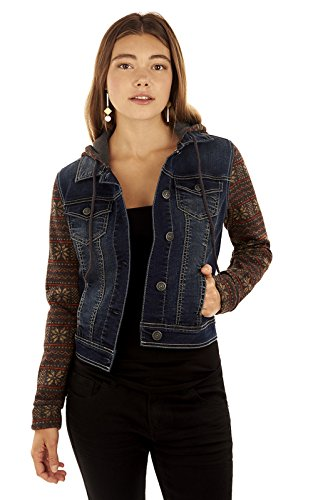 WallFlower Women's Juniors Dreamer Holiday Sleeve Jacket in Tegan, X-Large (Holiday Womens Jacket)
