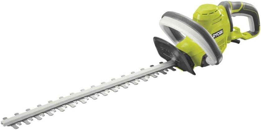 Ryobi RHT4550 RHT4550-Cortasetos eléctrico (espada de 50 cm, capacidad de corte de 20 mm, 450 W, Negro, Verde, Gris