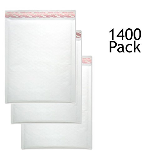 SVI Sales 9.5'' x 14'' Padded Self Seal Bubble Lined White Mailers Ship with UPS, USPS, FedEx and More, Pack of White Bubble Mailers by SVI Sales