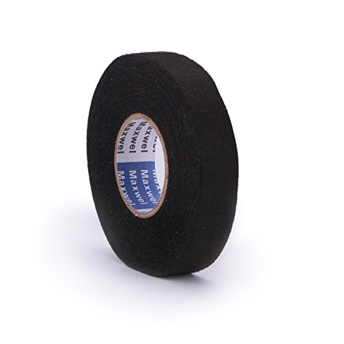 Wire Loom Harness Adhesive Cloth Fabric Tape for Automotive Electrical wire harnessing Noise Damping Heat Proof (Wire Electrical Car For)