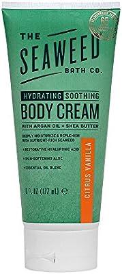The Seaweed Bath Co. Body Cream, Citrus Vanilla, Hydrating & Soothing, Natural Organic Seaweed, Paraben Free, 6oz