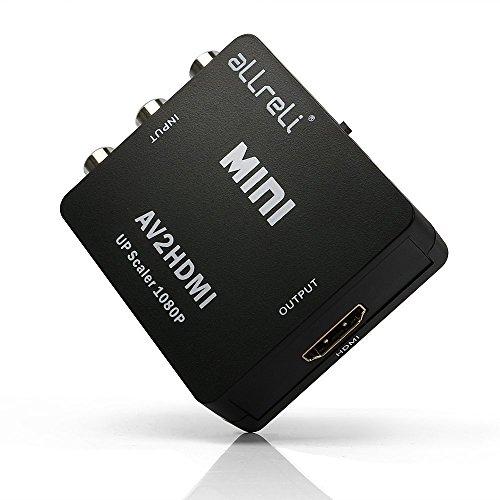 aLLreLi 1080P AV Composite Video Audio RCA CVBS to HDMI Conv