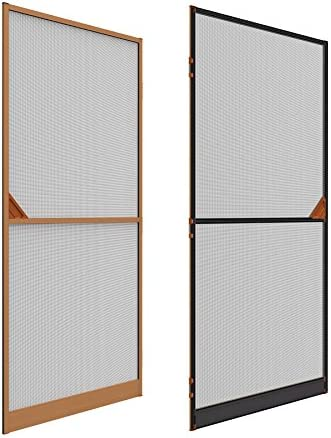 Mosquitera Rejilla Aluminio Puerta con chapa de madera 100 x 215 ...