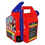 SureCan Patented Spill-Proof Red Gas Can 2.2 Gallon with Rotating Nozzle and Thumb Release Trigger