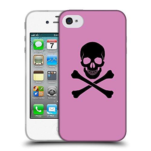 GoGoMobile Coque de Protection TPU Silicone Case pour // Q08040618 Os croisés 1 Bronze // Apple iPhone 4 4S 4G
