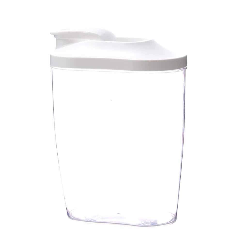 Plastic Cereal Dispenser Storage Box Kitchen Pets Dog Food Grain Container